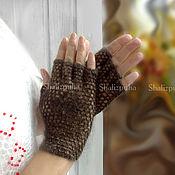 Аксессуары handmade. Livemaster - original item Handmade knitted down mitts, 361. Handmade.