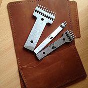 Инструменты для работы с кожей ручной работы. Ярмарка Мастеров - ручная работа Инструменты для работы с кожей: Комплект строчных пробойников для кожи. Handmade.