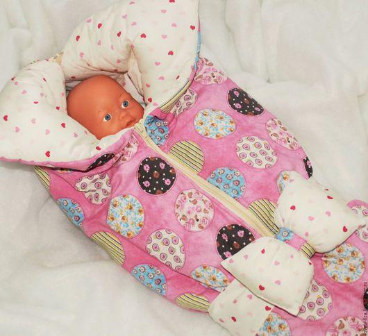 Для новорожденных, ручной работы. Ярмарка Мастеров - ручная работа. Купить Конверт на выписку (одеяло-трансформер) для девочки. Handmade.