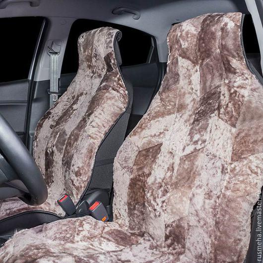 Автомобильные ручной работы. Ярмарка Мастеров - ручная работа. Купить Накидки на сидения из овчины Код: 114. Handmade. Бежевый