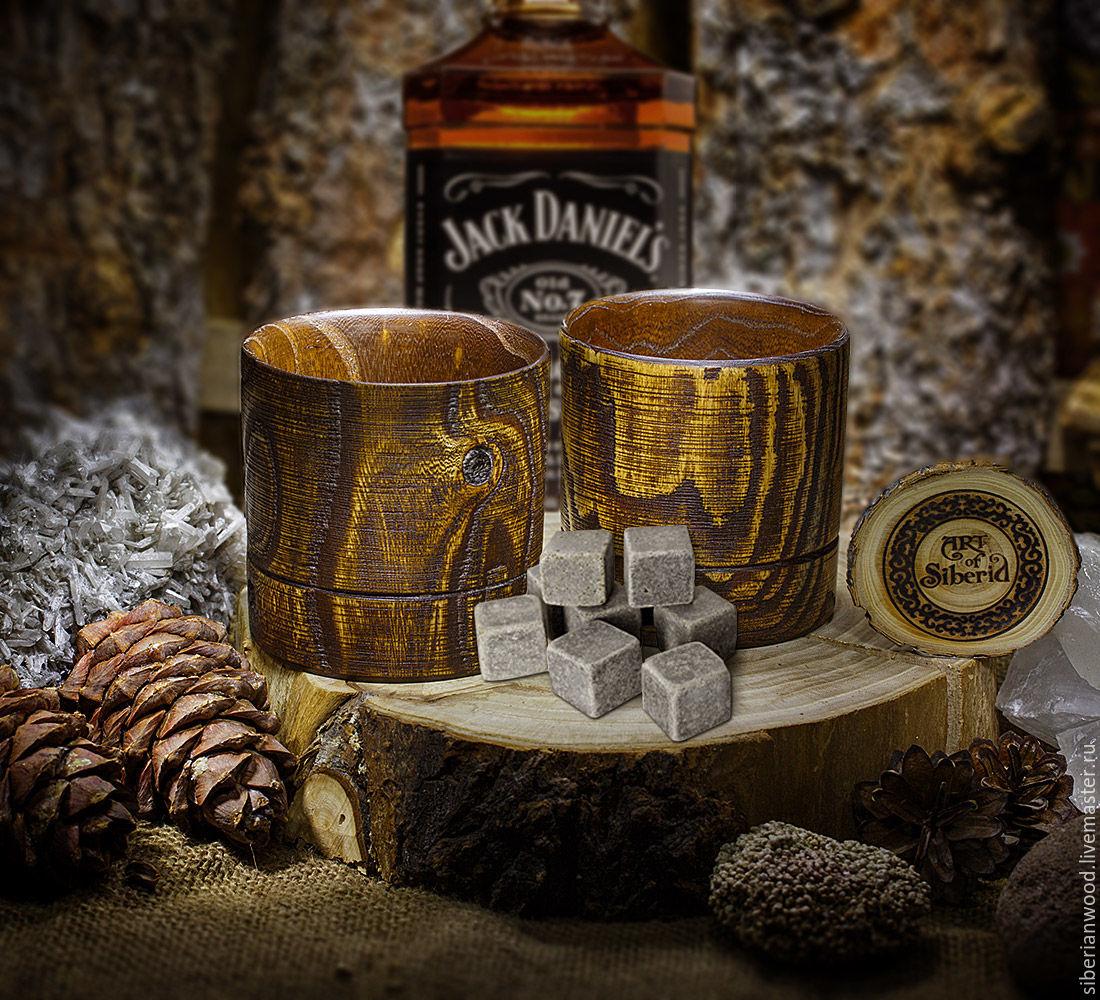 Бокалы, стаканы ручной работы. Ярмарка Мастеров - ручная работа. Купить Бокал для виски (ПАРА) из натурального дерева Вяз сибирский #WN1. Handmade.