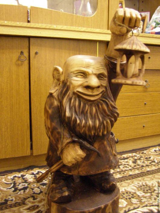 Элементы интерьера ручной работы. Ярмарка Мастеров - ручная работа. Купить Гном из дерева. Handmade. Скульптура из дерева, деревянная мебель