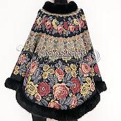 """Одежда ручной работы. Ярмарка Мастеров - ручная работа Пончо """"Молитва-8"""" из павлопосадского платка (с закруглёнными углами). Handmade."""
