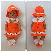Одежда для кукол ручной работы. Ярмарка Мастеров - ручная работа Оранжевое платье на куклу беби бон, baby born. Handmade.