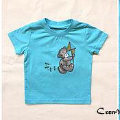 """Одежда ручной работы. Ярмарка Мастеров - ручная работа Роспись детской одежды """"мишка Teddy"""". Handmade."""