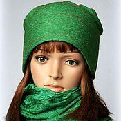 Аксессуары handmade. Livemaster - original item Felted hat..greens. Handmade.