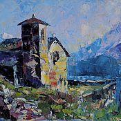 Картины и панно handmade. Livemaster - original item Painting mountains lake Mountain landscape abstract. Handmade.