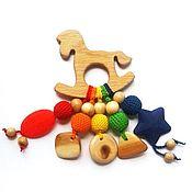 Куклы и игрушки ручной работы. Ярмарка Мастеров - ручная работа Грызунок-прорезыватель Лошадка. Handmade.