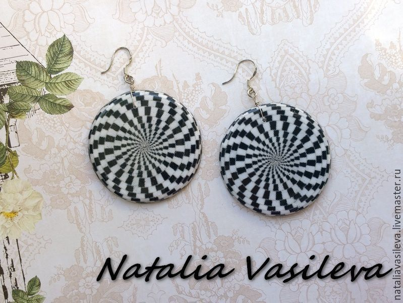 Earrings 'Hypnosis', Earrings, St. Petersburg,  Фото №1