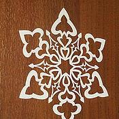 """Подарки к праздникам ручной работы. Ярмарка Мастеров - ручная работа наклейка """"снежинка"""". Handmade."""