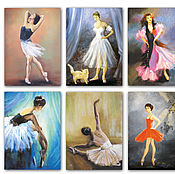 Открытки handmade. Livemaster - original item Ballerina greeting Cards set of 6 PCs Ballet and dance. Handmade.