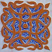 Для дома и интерьера ручной работы. Ярмарка Мастеров - ручная работа Пряничная сказка, изразцовая плитка. Handmade.