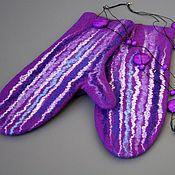 Аксессуары handmade. Livemaster - original item Felted mittens...mittens. Handmade.
