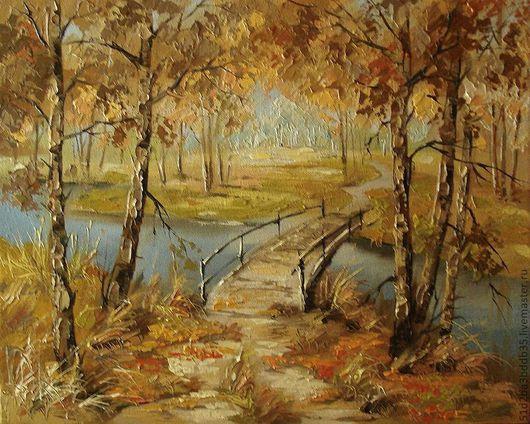 Пейзаж ручной работы. Ярмарка Мастеров - ручная работа. Купить осень. Handmade. Картина, картина в подарок, картина для интерьера