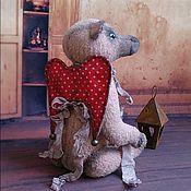 Куклы и игрушки ручной работы. Ярмарка Мастеров - ручная работа Мишка Тедди ПЕРВЫЙ из серии Сердечные Михи. Handmade.