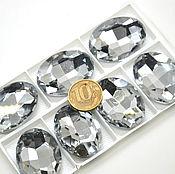 Эксклюзив Стразы овал 40х30 мм в кристалл