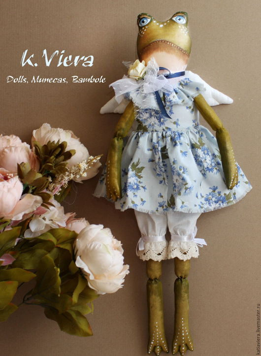 лягушка тильда,весна,лето,куклы, игрушки ручной работы,  handmade, K.Viera, Ярмарка Мастеров.