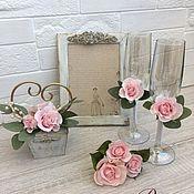 Набор свадебных аксессуаров Роуз