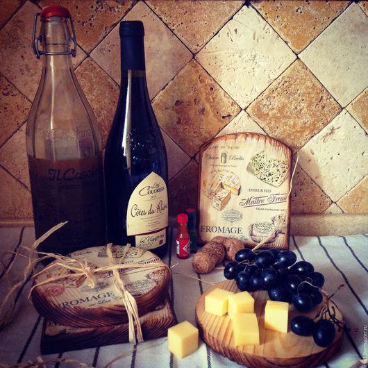 Кухня ручной работы. Ярмарка Мастеров - ручная работа. Купить Сырные досочки-1 (браш). Handmade. Сырная доска, кухня