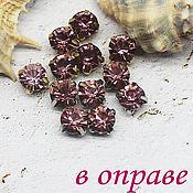 Материалы для творчества handmade. Livemaster - original item Rhinestones 6 mm Antique pink. Handmade.