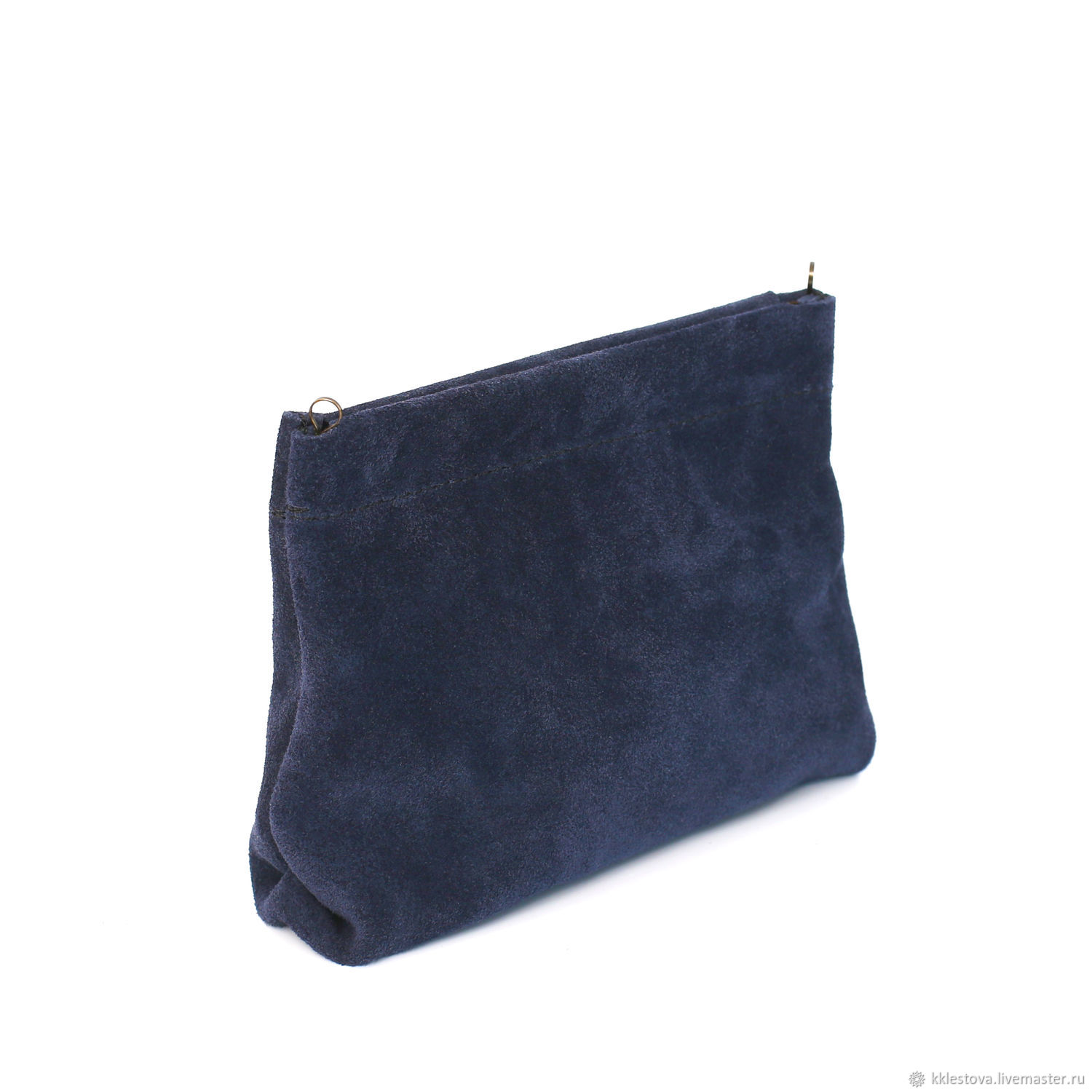 492c3844fcf Organizers for Handbags handmade. Livemaster - handmade. Buy Blue suede  cosmetic Bag - pocket ...