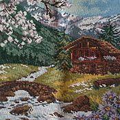 Картины и панно ручной работы. Ярмарка Мастеров - ручная работа Горный пейзаж. Handmade.