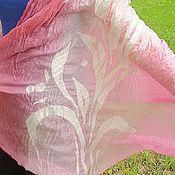 """Аксессуары ручной работы. Ярмарка Мастеров - ручная работа Палантин """"Розовый кварц"""". Handmade."""