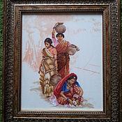Картины и панно ручной работы. Ярмарка Мастеров - ручная работа Индианки. Handmade.