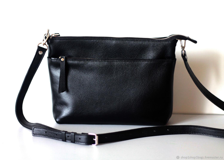 05bc1dd5559d Женские сумки ручной работы. Ярмарка Мастеров - ручная работа. Купить Кожаная  черная сумка на ...