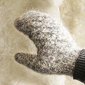 Аксессуары handmade. Livemaster - original item Mittens of 100% wool (heathered yarn). Handmade.