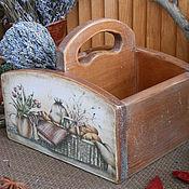 """Для дома и интерьера ручной работы. Ярмарка Мастеров - ручная работа Короб для специй """"Пикник"""" (массив кедра). Handmade."""