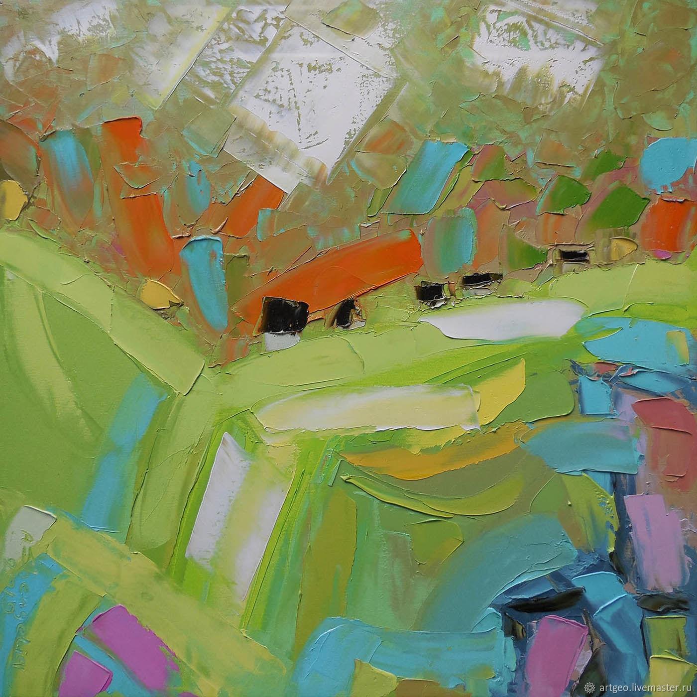 """Сезон винограда"" 50х50 см лофт картина маслом мастихином, Картины, Санкт-Петербург,  Фото №1"