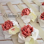 """Свадебный салон ручной работы. Ярмарка Мастеров - ручная работа Браслеты для подружек невесты """"Пыльная роза"""". Handmade."""