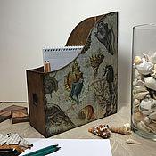 Для дома и интерьера ручной работы. Ярмарка Мастеров - ручная работа Карандашница и лоток для бумаг, тетрадей, папок, журналов. Handmade.