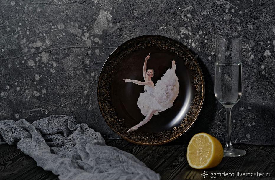 Декоративная посуда ручной работы. Ярмарка Мастеров - ручная работа. Купить Декоративная тарелка Балерина 1. Handmade. Декоративная тарелка