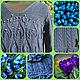 """Пуловер вязаный """"Синие тюльпаны"""". Пуловеры. Доминика. Ярмарка Мастеров.  Фото №4"""