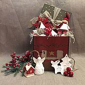 Подарки к праздникам ручной работы. Ярмарка Мастеров - ручная работа Набор елочных игрушек N 22. Handmade.