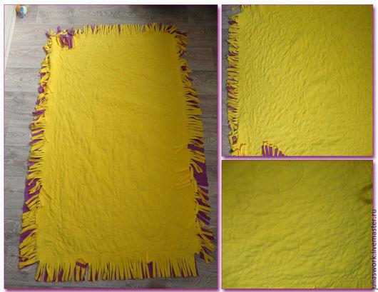 Текстиль, ковры ручной работы. Ярмарка Мастеров - ручная работа. Купить Флисовый плед. Handmade. Разноцветный, детский плед, флис