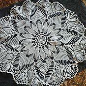 Для дома и интерьера ручной работы. Ярмарка Мастеров - ручная работа Небольшая кружевная скатерть. Handmade.