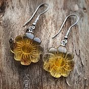 Украшения handmade. Livemaster - original item Amber. Earrings from a set of