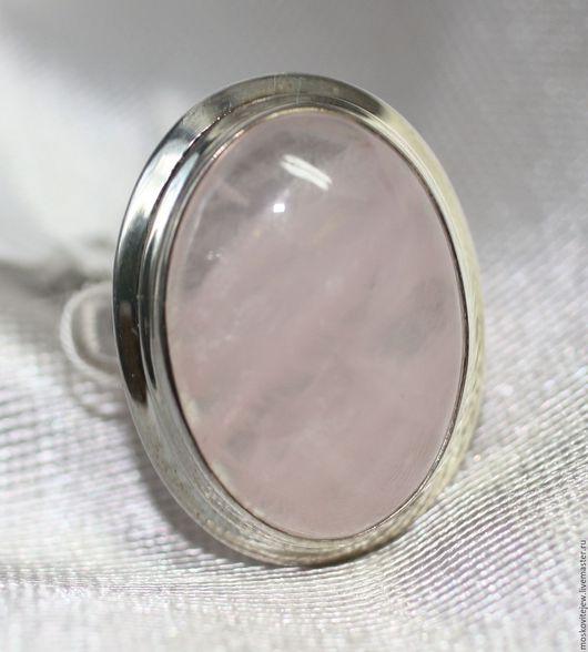 Кольца ручной работы. Ярмарка Мастеров - ручная работа. Купить Кольцо с розовым кварцем. Handmade. Бледно-розовый, камень натуральный