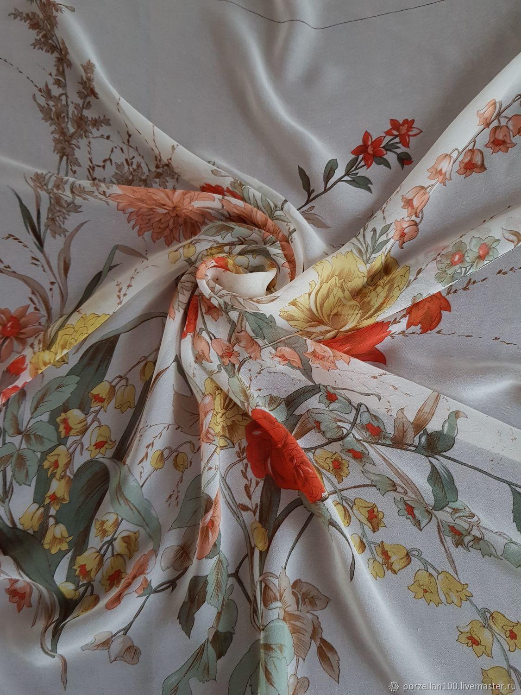 Винтаж: Платок Michel Paris, шелк натуральный, Аксессуары винтажные, Кисловодск,  Фото №1