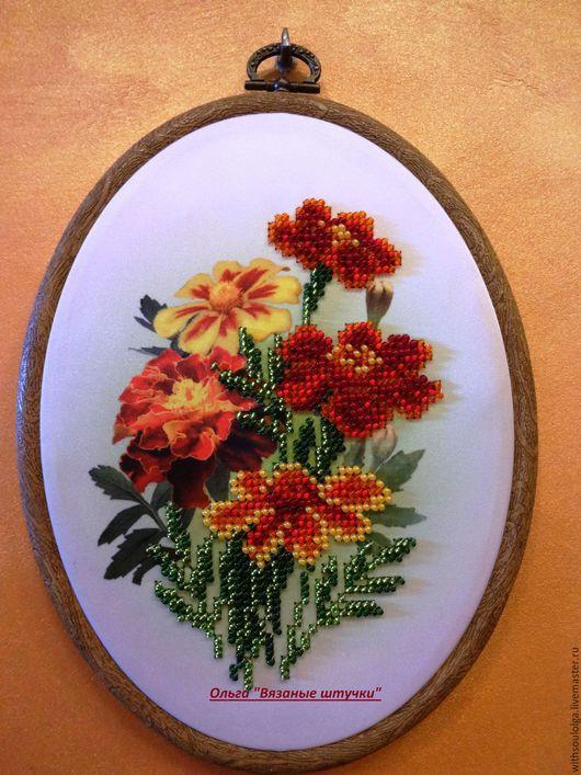 Картины цветов ручной работы. Панно