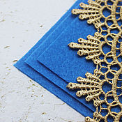 Материалы для творчества handmade. Livemaster - original item Felt base for embroidery Blue 30/30 cm thickness 1 mm. Handmade.