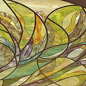 Для дома и интерьера ручной работы. Ярмарка Мастеров - ручная работа Витражный подвесной потолок-Цветение. Handmade.