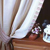Для дома и интерьера handmade. Livemaster - original item Curtains in the kitchen cotton mesh