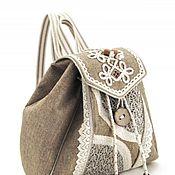 Рюкзаки ручной работы. Ярмарка Мастеров - ручная работа Рюкзак с вышивкой и кружевом. Handmade.