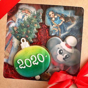 Сувениры и подарки ручной работы. Ярмарка Мастеров - ручная работа Мышь новогодняя, мышка новогодняя - имбирные чудеса. Handmade.