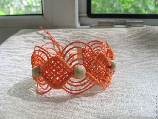 Браслеты ручной работы. Ярмарка Мастеров - ручная работа. Купить Плетеный браслет. Handmade. Рыжий, украшение на каждый день