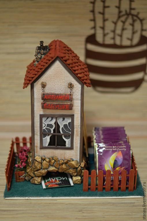 """Кухня ручной работы. Ярмарка Мастеров - ручная работа. Купить Чайный домик """"Любимой бабушке"""". Handmade. Разноцветный, миниатюра"""